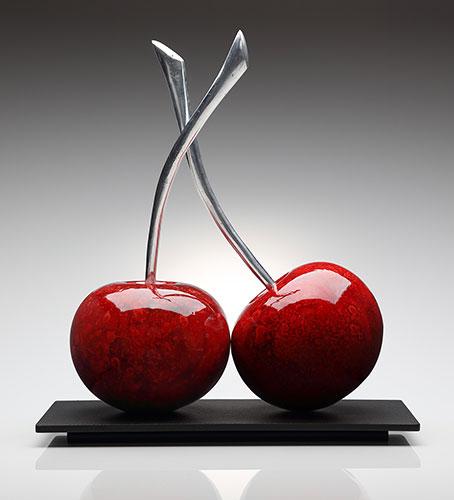 Twin Red Cherries